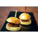 Mini Brioche - Beef Burger with Seeded Mustard, Swiss Cheese